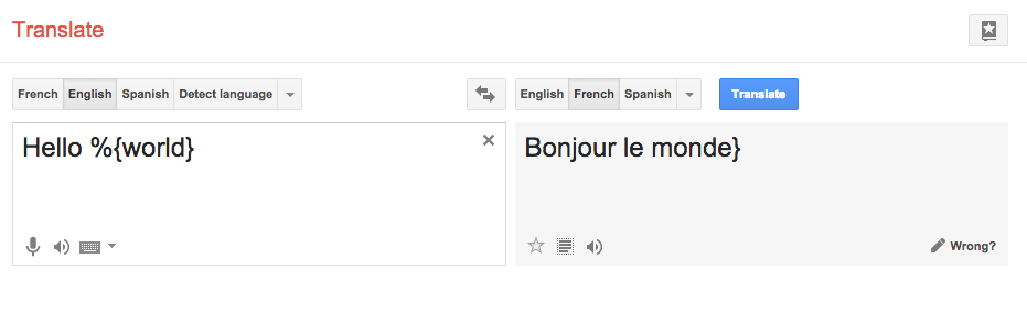 Google Translate is just wrong with interpolated variables