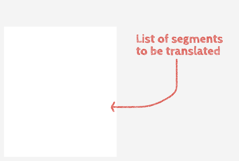 List of segments to be translated