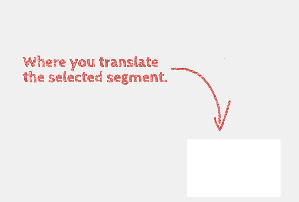 Where you translate the selected segment.